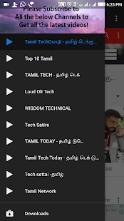 Download Top 10 YouTube Channels Tamil Tech Videos For PC Windows and Mac apk screenshot 1
