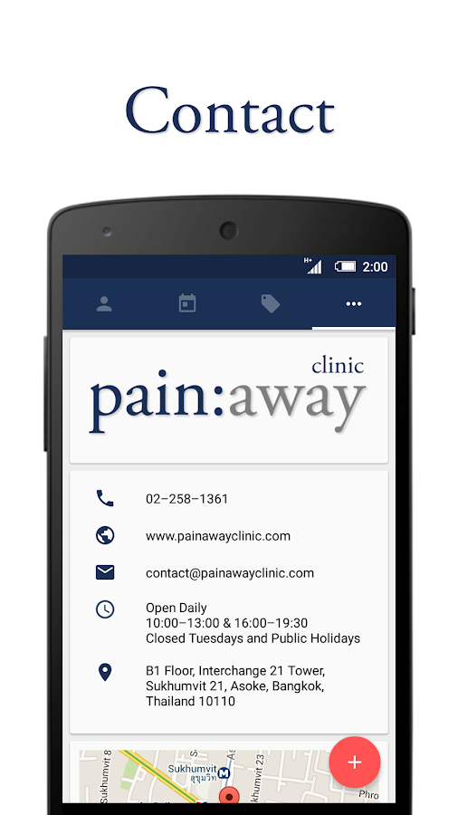 Pain Away - Booking App- screenshot
