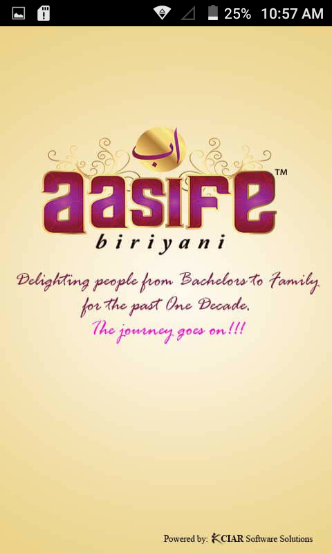 Aasife Biriyani- screenshot