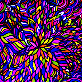 Blooming Blast by Amada Gonzalez - Abstract Patterns ( abstract, patterns, blooming, colorful, art )