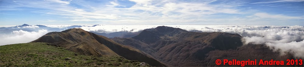 Photo: Panorama 4 dal Cusna, da la Piella al Prado