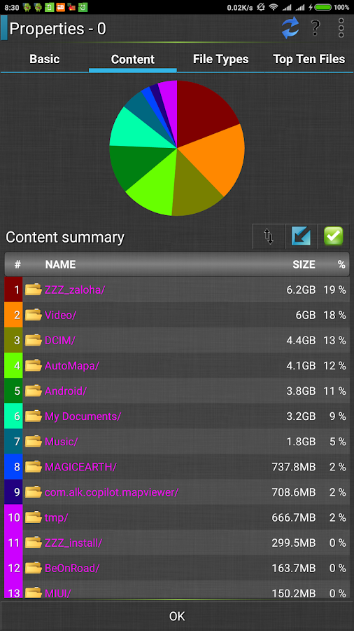 File manager / commander HD- screenshot