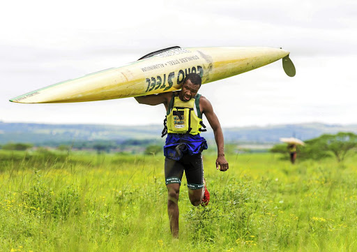 Sbonelo Khwela is a title contender and plans to hit his rival hard on land. He is also aiming to make history by becoming the first black man to win the Dusi K1 title. Picture: GAMEPLAN MEDIA/ANTHONY GROTE