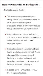 Earthquake Safety Tips - náhled