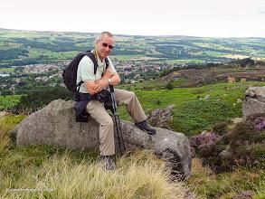 Photo: Me hiking across Ilkley Moor
