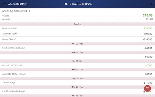 SCE FCU Mobile Screenshot