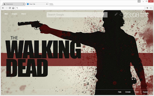 The Walking Dead HD Wallpapers New Tab Theme - Chrome Web Store