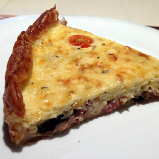 Breakfast Tart With Milk-fed Veal Bacon And Gruyere Cheese