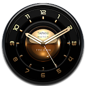 TYCOON Designer Clock Widget gold