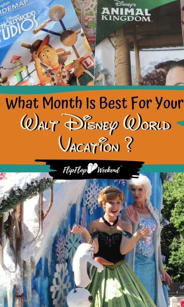 Wondering when it is the best time to go to Disney World? This post explains the pros and cons of each month at Walt Disney World, with crowd guides, average weather and things to do... to help you plan for your next magical vacation. #DisneyTravel #WaltDisneyWorld #DisneyTips