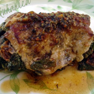 Pork Chops Stuffed With Tomatoes And Spinach