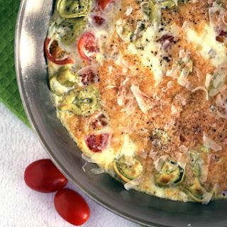Tomato Tortellini Frittata.