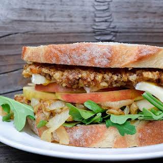 Walnut, Brie and Arugula Sandwich.