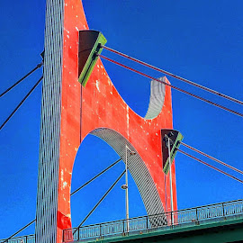Big Red by Stephen Lang - Buildings & Architecture Bridges & Suspended Structures