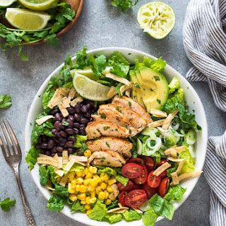 Santa Fe Chicken Salad with Tangy Lime Dressing.