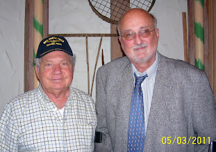 Photo: Capt. Schmidt & Terry Whitaker get together for their second reuinion lunch in St. Louis, MO.