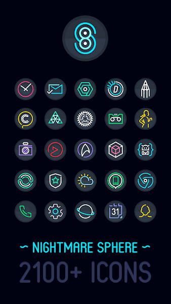 Nightmare Sphere – Dark S8 Icon Pack v2.1.0.i.a