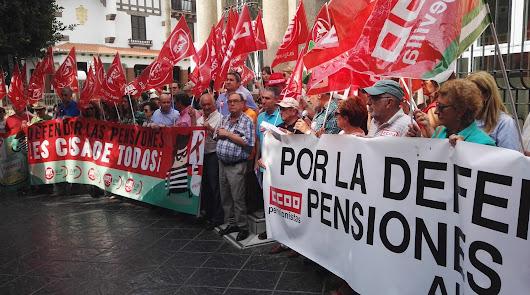 Concentración para reclamar unas pensiones dignas al Gobierno
