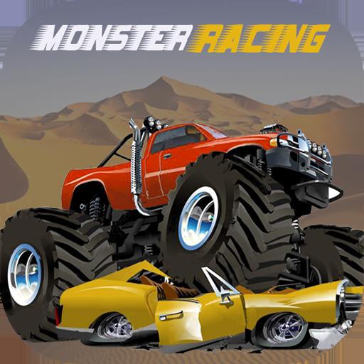 赛车游戏のレーシングカーモンスタートラックの3D LOGO-記事Game
