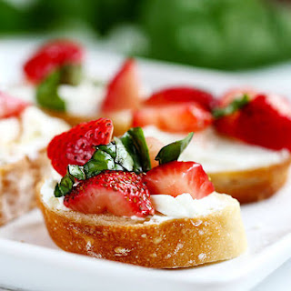 Strawberry Goat Cheese Bruschetta.