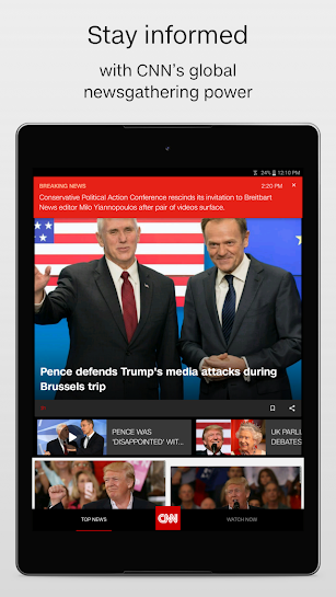 CNN Breaking US & World News screenshot for Android