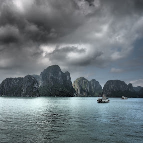 Calm Before The Storm by Daniel Dan - Landscapes Mountains & Hills ( landmark, travel, halong bay )