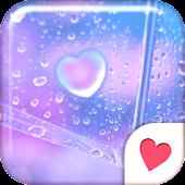 Cute wallpaper★Heart Rain Drop