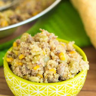 Skillet Sausage Succotash Recipe with Quinoa