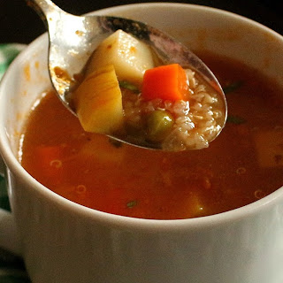 Vegetable and Quinoa Soup.