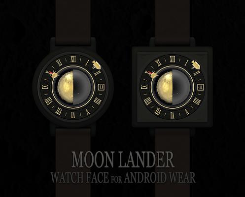 Moonlander watchface by Materi - screenshot