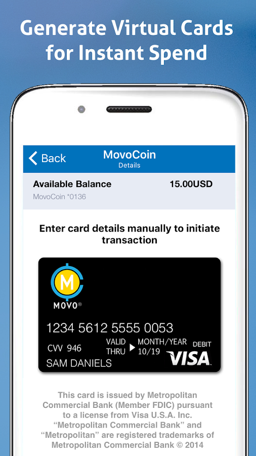 MOVO - Mobile Cash & Payments- screenshot