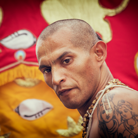 Ratha Yatra in Buenos Aires, Argentina by Edi Libedinsky - People Portraits of Men ( procession, color, joy, festival, street,  )