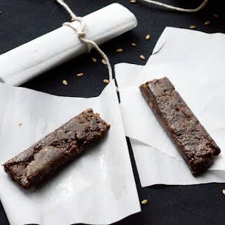 Chocolate + Peanut Butter Energy Bars.