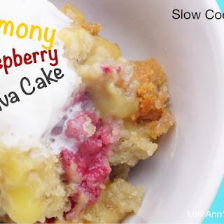 Slow Cooker Lemony Raspberry Lava Cake