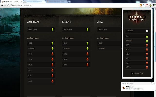 Diablo III Server Status