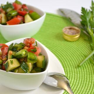 Summer Vegetable Wheat Berry Salad.