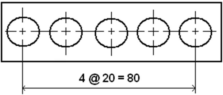 Dimensioning Equidistant or Regularly Arranged Elements