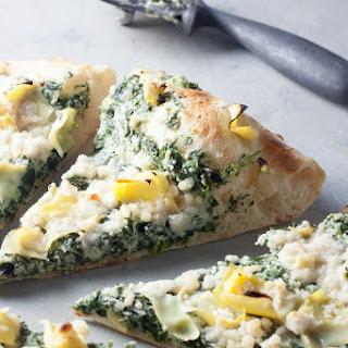Spinach Artichoke Neapolitan Pizza.