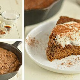 Giant Skillet Gingerbread Cookie.