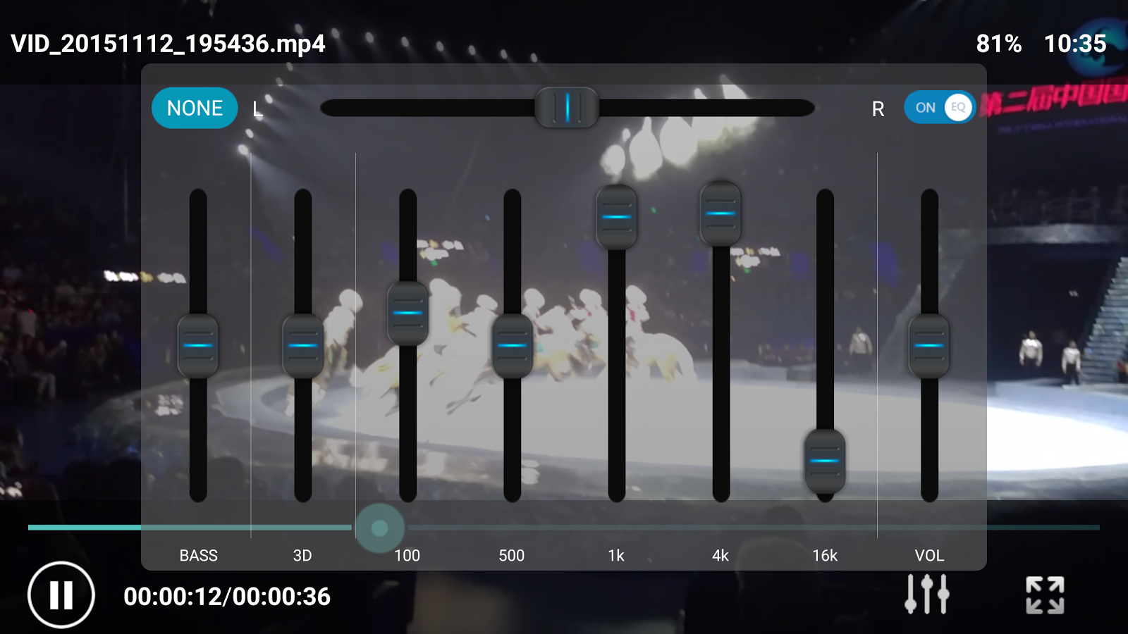 Equalizer Video Player- screenshot