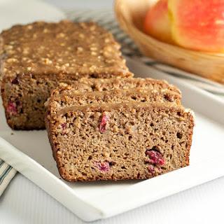 Paleo Apple Cranberry Bread with Pecan Glaze