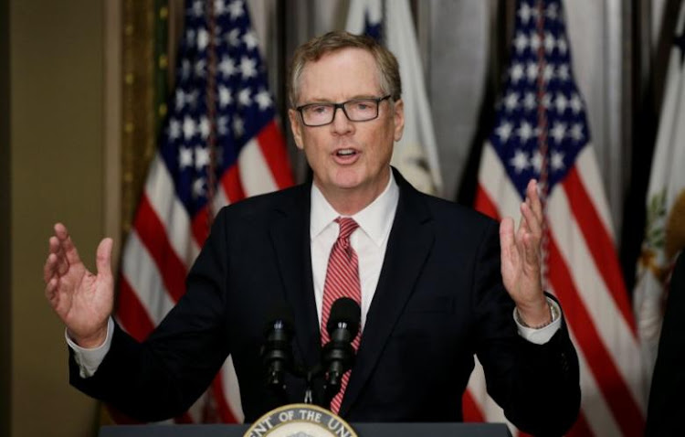 Robert Lighthizer. Picture: REUTERS