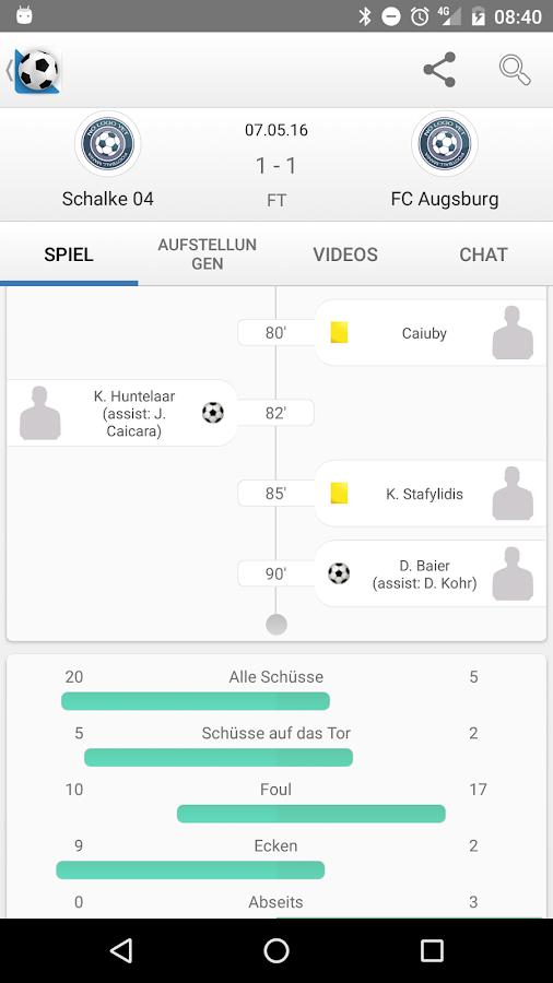 Fussball live ergebnisse android apps auf google play for Live ergebnisse
