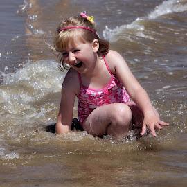 Fun at the beach by Stuart Walker - Babies & Children Child Portraits (  )