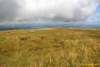 Photo: Fan Gyhirych high point somewhere between here and the cairn in line with trig point.