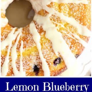 Lemon Blueberry Bundt Cake with Lemon Glaze.