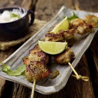 Coconut Shrimp Skewers.