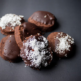 Double Chocolate Coconut Oil Shortbread Cookies