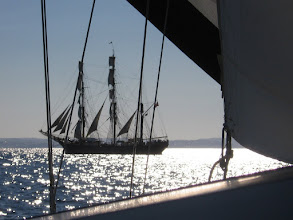 Photo: Chasing the James Craig off Sydney Harbour