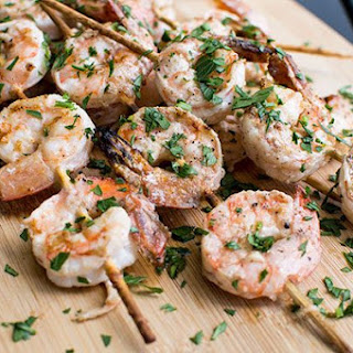 Garides Souvlakia (Skewered Shrimp)